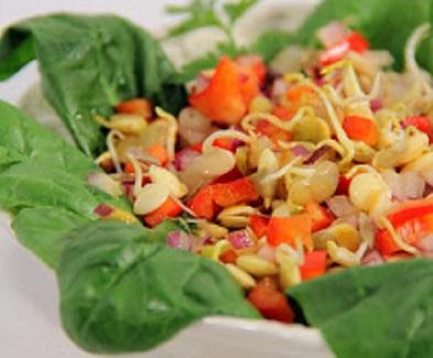 Lencsecsíra saláta