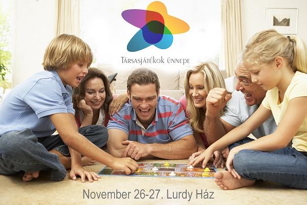 TÁRSASJÁTÉKOK ÜNNEPE: November 26-27-én a Lurdy Házban