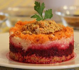 Céklás zöldség torta