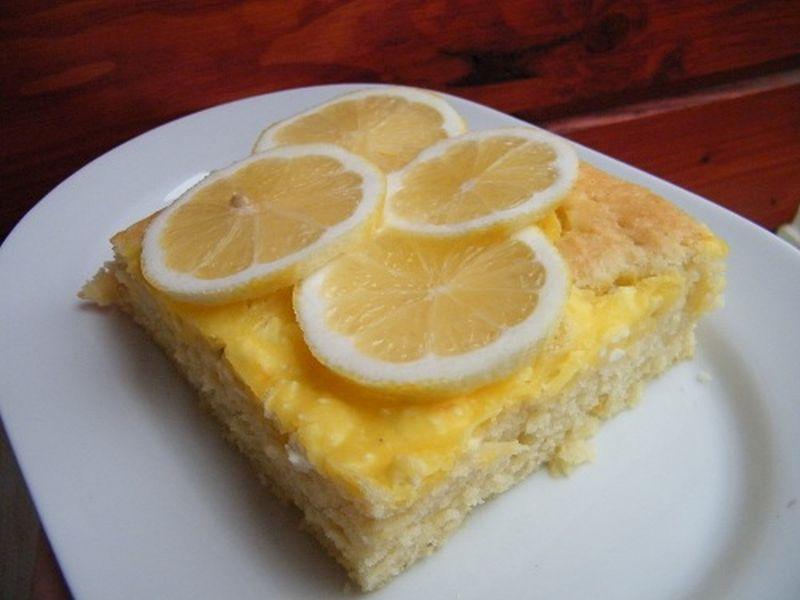 Illatos citromos szelet - túróval