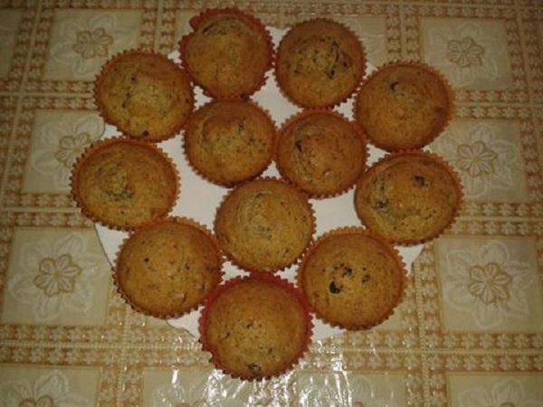 Bajnokok ételei: Étcsokis muffin